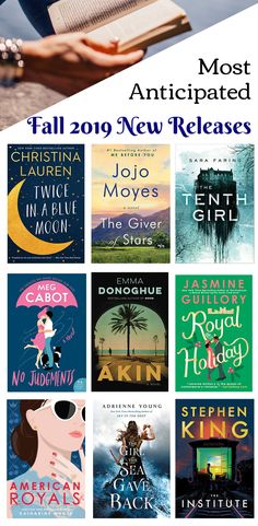 The most anticipated new book releases coming out this fall! These new releases are a mix of young adult, chick lit, fiction, and nonfiction! adult books New Book Releases I Can't Wait to Read in 2019 - Never Enough Novels Book Club Books, Book Lists, New Books, Good Books, Books To Read, Books For Fall, Reading Lists, Castle Tv, Castle Beckett