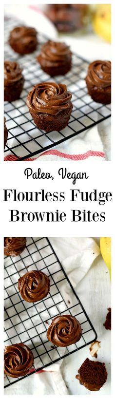 Paleo and vegan fudge brownie bites!