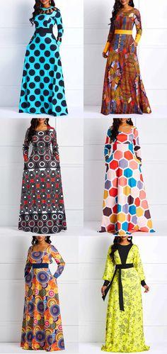 Chic Printed African style dresses for u African Dresses For Kids, African Maxi Dresses, Ankara Dress Styles, Latest African Fashion Dresses, African Attire, Plus Size Maxi Dresses, Cheap Dresses, Elegant Dresses, Kitenge Designs Dresses