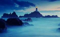 Beautiful Lighthouse in Fogging Wallpaper