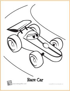 Race Cars Coloring Pages