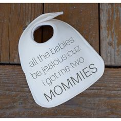 Lesbian couple baby gift baby gifts for two moms by BigSkyBibs