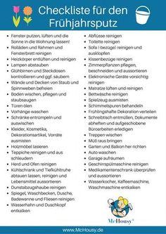 Checkliste für den Frühjahrsputz