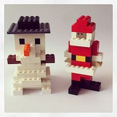 #Lego #DIY Snowman and Santa Claus