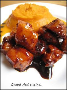 Caramelized chicken with balsamic vinegar and Espelette pepper - When Nad cooks . - Caramelized chicken with balsamic vinegar and Espelette pepper - I Love Food, Good Food, Yummy Food, Cooking Time, Cooking Recipes, Salty Foods, Asian Recipes, Chicken Recipes, Easy Meals