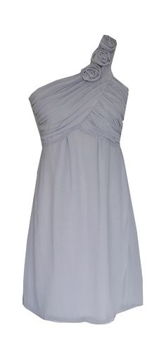 Rosette Strap Chiffon Dress Silver Gray. $34.99. Not sure if available in different colors.