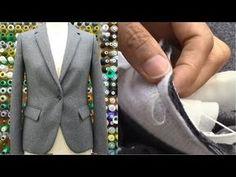ジャケットの作り方・縫い方 Part3 「ダーツ フラップ玉縁ポケット 表身頃後ろベンツ」 How to sew a jacket tutorial - YouTube