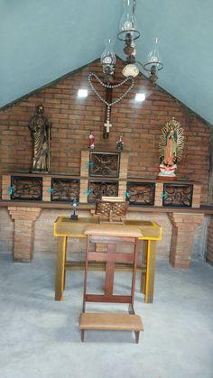 Altar de la capilla  en el  rancho