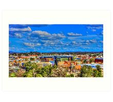 View to the New Bendigo Bank Building from the Poppethead Art Print