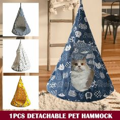 Konesky Pet Products Cat Hammock for Pet Cat Rest House Strong Load-Bearing Soft Window Lounger Suction Cups Comfortable Warm Bed
