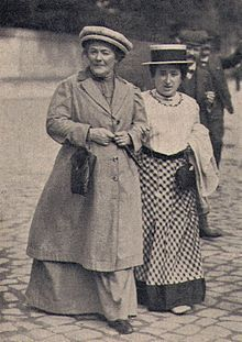 Clara Zetkin, feminist and socialist - created International Women's Day - here she is with Rosa Luxemburg