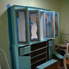 destressing painted furniture with acrylic paint