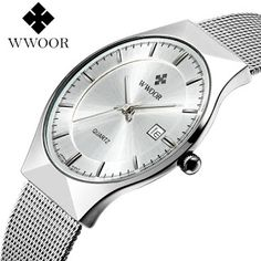 WWOOR New Top Luxury Watch Men Brand Mens Watches Ultra Thin Stainless Steel Mesh Band Quartz Wristwatch Fashion casual watches (32666126095)  SEE MORE  #SuperDeals
