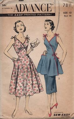 Retro Vintage 1950s Advance Sewing Pattern by AdeleBeeAnnPatterns, $30.00