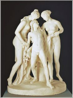John Gibson (1790-1866), Hylas Surprised by the Naiades - 1827/1836.