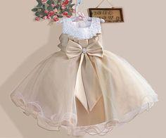CUDO! ZŁOTA ECRU SUKIENKA CEKINY WESELE ŚLUB - sukienki - DLA DZIEWCZYNKI (kliknij aby rozwinąć):
