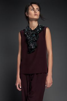 """The ROXIE piece.  Hand-beaded neck piece By PIECE. //The """"Volume 1"""" Collection www.piece-collection.com"""