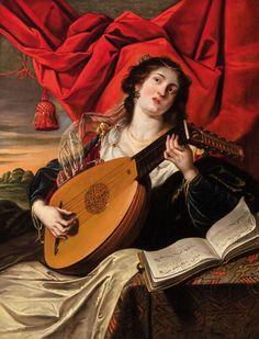 Gaspar de Crayer — Allegory of Music European Paintings, Classic Paintings, Music Painting, Art Music, Baroque Art, Environmental Portraits, Academic Art, Beige Aesthetic, Music Images