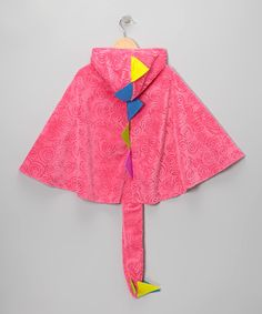 Look at this Pink Dino Hooded Cape - Kids on #zulily today!