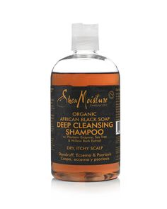 Oh, the relief that comes from using this shampoo. It soothes itchy, dry scalp within the first use. This shampoo healed my scalp eczema more quickly than any other product I've used, including T-Gel. Besides it's healing properties, Shea Moisture African Black Shampoo leaves hair soft and shiny. It does smell a little odd, but not enough to put anyone off.