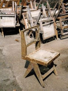 Pierre Jeanneret's chairs from the 1950s  (via MONDOBLOGO: the spoils of chandigarh….)