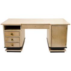 French Art Deco Vellum Desk by Jauvert & Alet, c.1940 | From a unique collection of antique and modern desks at http://www.1stdibs.com/furniture/storage-case-pieces/desks/