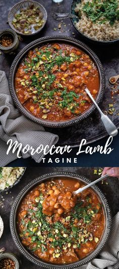 This aromatic Moroccan lamb tagine is easy to make in your I. - Dinner BellThis aromatic Moroccan lamb tagine is easy to make in your Instant Pot, slow cooker or stovetop. Serve with couscous, rice or mashed potatoes for a hearty and delicious meal Slow Cooker Recipes, Cooking Recipes, Healthy Recipes, Crockpot Recipes, Easy Lamb Recipes, Cooking Pork, Meat Recipes, Moroccan Lamb Tagine, Moroccan Tagine Recipes