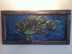 Sea bass - wood