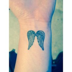 Angel Wing Wrist Tattoo Ink ❤ liked on Polyvore featuring accessories, body art and tattoos