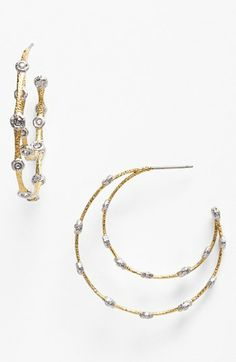 Alexis Bittar 'Elements - Lace' Station Hoop Earrings available at #Nordstrom