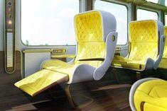 Futuristic Luxury Eurostar Seat Designs by Christopher Jenner
