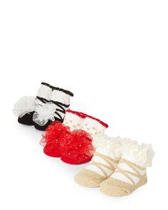 34361499d95 Laura Ashley (Newborn Girls) 3-Pack Dressy Sock Gift Set Newborn Girls