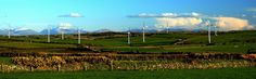 Great weather. Looking S. to Snowdonia across Anglesey
