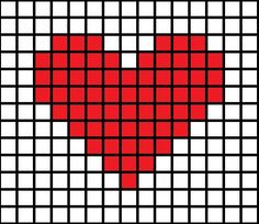 DIY Cross-Stitched Card - Picture of Simple Cross-Stitch Patterns Picture of Simple Cross-Stitch Patterns Picture of Simple C - Tiny Cross Stitch, Easy Cross Stitch Patterns, Cross Stitch Heart, Cross Stitch Cards, Simple Cross Stitch, Loom Patterns, Heart Patterns, Cross Stitch Designs, Cross Stitching