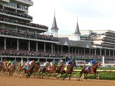 """Every first Saturday in May, Louisville, KY, is home to the """"Most Exciting Two Minutes In Sports."""" The Kentucky Derby marks the annual stakes race for 3-year-old thoroughbreds, which race around a 1 1/4-mile track. The tradition began in May 1875, when the first Derby was held before a crowd of 10,000 people."""