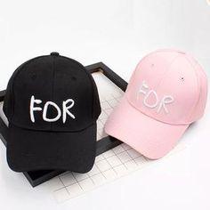 380a13cbe59cc FOR embroidery letter Baseball Cap Women men cotton snapback Hat Hip Hop Cap  For Lady Girls
