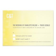 This DealsRSVP REPLY CARD :: ombre watercolor yellowThis site is will advise you where to buy