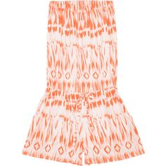 Strapless Printed Drawstring Romper ($14) ❤ liked on Polyvore featuring jumpsuits and rompers