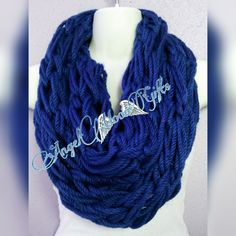 Check out this item in my Etsy shop https://www.etsy.com/listing/278128504/dark-blue-infinity-scarf-handmade-scarf