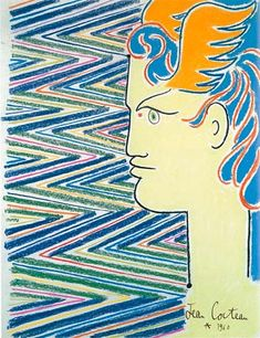 by Jean Cocteau Jean Cocteau, Great Works Of Art, Muse Art, Bohemian Art, Art Thou, Henri Matisse, French Artists, Graphic Design Inspiration, Line Drawing