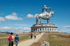 Enormous Statue of Genghis Khan in Mongolia