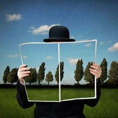 René Magritte.  See The Virtual Artist gallery: www.theartistobjective.com/gallery/index.html