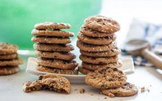 Mini Sesame Chocolate Chip Cookies