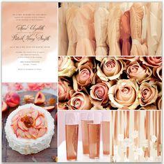 blush champagne.. Beautiful for wedding/shower ideas