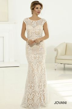 Lace Cap Sleeve Bridal Gown from Jovani