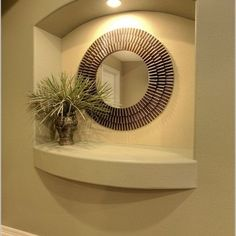 Drywall Art Niche Design Ideas, Pictures, Remodel, and Decor Niche Decor, Art Niche, Alcove Decor, Wall Nook, Home Interior Design, Interior Decorating, Niche Design, Drywall, Decoration