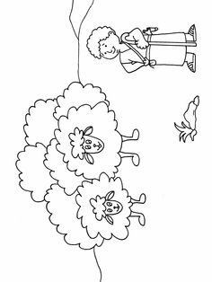David The Shepherd Boy U201d Coloring Page Bible Rh Com Sheep Blank
