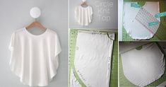 Let's look at this wonderful tutorial called circle knit top. In this tutorial you, sewing and other craft lovers are go Beginner Crochet Tutorial, Crochet For Beginners, Sewing Clothes, Diy Clothes, Diy Bags Purses, Fancy Tops, Diy Tops, Dress Sewing Patterns, Fashion Sewing