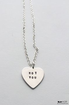 BLK AND NOIR JEWELRY - Go Away/Fuck Off/Fuck You Engraved Heart Necklace, $40.00 (http://www.blkandnoir.com/engraved-heart-necklace)
