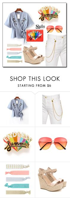 """""""contest SHEIN"""" by v3ronica0 ❤ liked on Polyvore featuring Pierre Balmain, ban.do and Accessorize"""